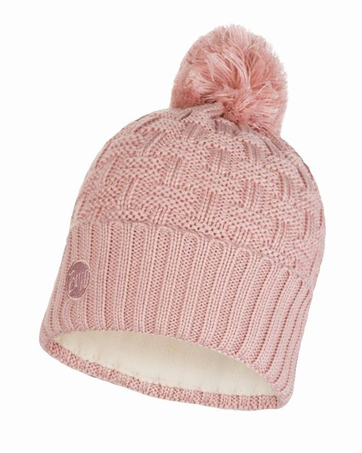 Buff Knitted & Polar Fleece Hat Airon - blossom pink