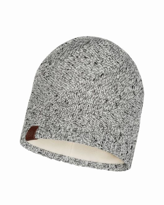 Buff Knitted & Polar Fleece Hat Arne - cru