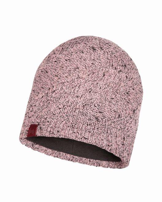 Buff Knitted & Polar Fleece Hat Arne - pale pink