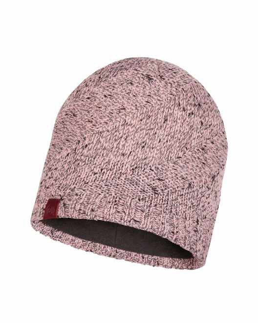 Buff Knitted & Polar Fleece Hat Arne - grey