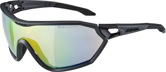 Alpina S-WAY L VLM+ Sportbrille - coal matt black – Bild 1