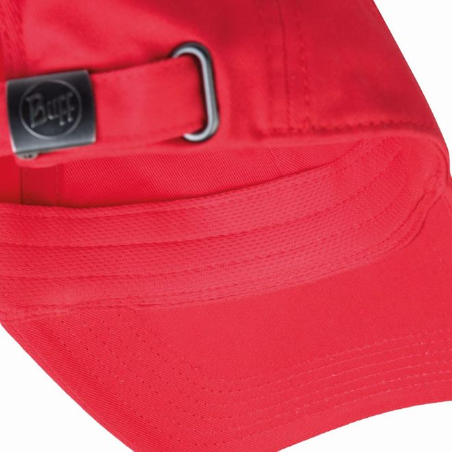 Buff Baseball Cap - solid red – Bild 3