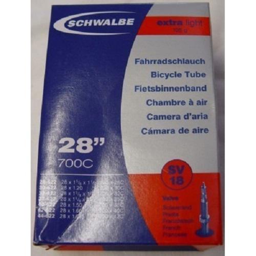 "SCHWALBE Fahrradschlauch SV Ventil Nr. 18 28"",40 mm,28/44-622,10428343"