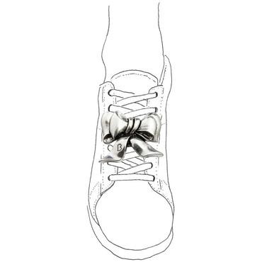 Schleife Silber Accessoire Fur Schuhe Sneaker Bug Ceres Webshop