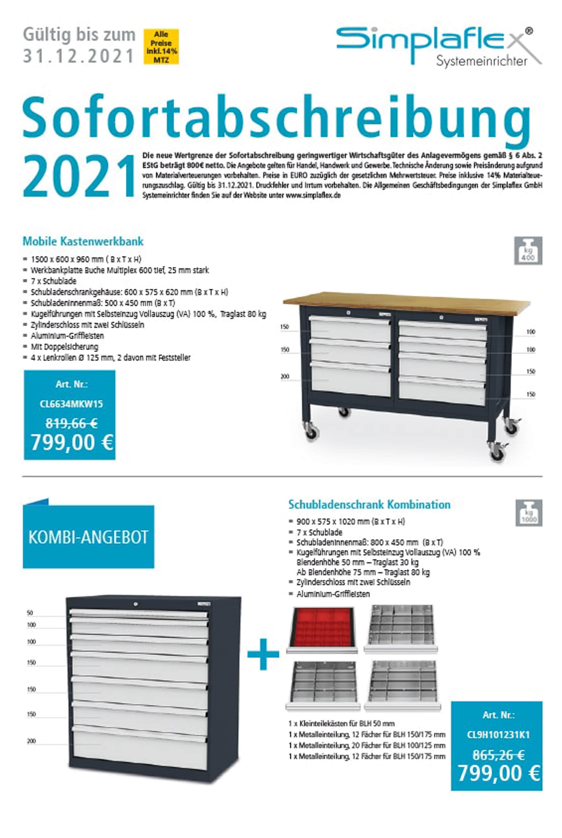 Simplaflex-ABSCHREIBUNG 2021