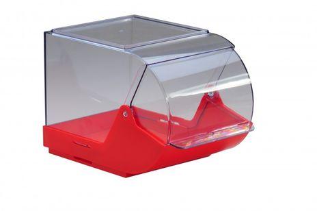 Artikelbox mit transparenten Klappdeckel
