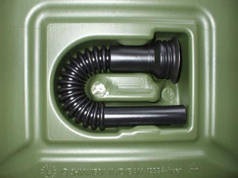 "Transport Kraftstoff Kanister ""PROFI"" (UN) 10 L, oliv, mit Auslaufrohr – Bild 2"