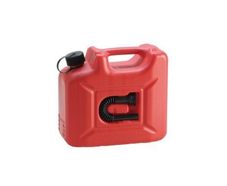 "Transport Kraftstoff Kanister ""PROFI"" (UN) 10 L, rot, mit Auslaufrohr – Bild 1"