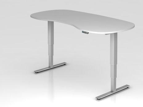 Schreibtisch XDSM20, 200 x 100 cm, elektrisch höhenverstellbar, Grau