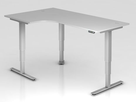 Schreibtisch XDSM82, 200 x 120 cm, elektrisch höhenverstellbar, Grau