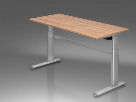 Ergonomic Schreibtisch B/T: 1800x800 mm mit C-Fuß – Bild 5