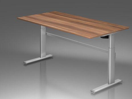 Ergonomic Schreibtisch B/T: 2000x1000 mm mit C-Fuß – Bild 7
