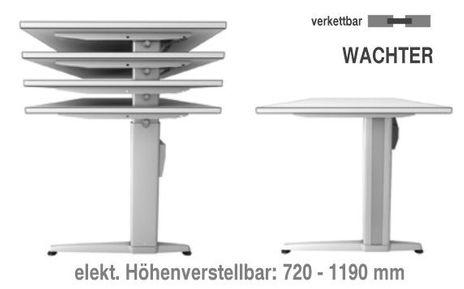 Ergonomic Schreibtisch B/T: 1200x800 mm mit C-Fuß – Bild 8