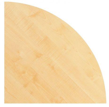Tischplatte KP91, Viertelkreis 80 x 80 cm, Platte: Ahorn