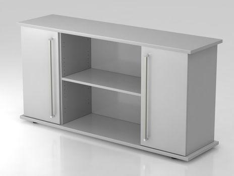 Sideboard SB2T CE, 2 OH,  Korpus: Grau / Front: Grau , 166,1 x 42 x 84 cm (BxTxH)