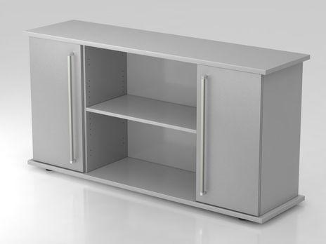 Sideboard SB2T CE, 2 OH,  Korpus: Grau / Front: Silber, 166,1 x 42 x 84 cm (BxTxH)