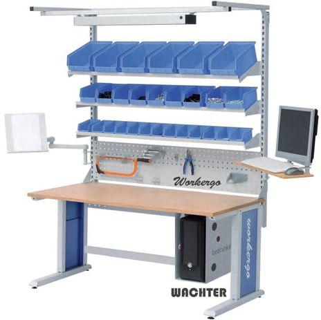 Workergo Tisch Kombination, C-Fuß, Angebot mit Aufbau – Bild 1