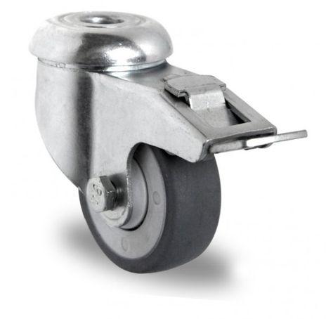 Rückenlochlenkrolle mit Feststeller Ø 50mm
