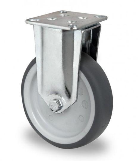 4 Schwere Apparaterollen, Bockrolle Ø 125mm
