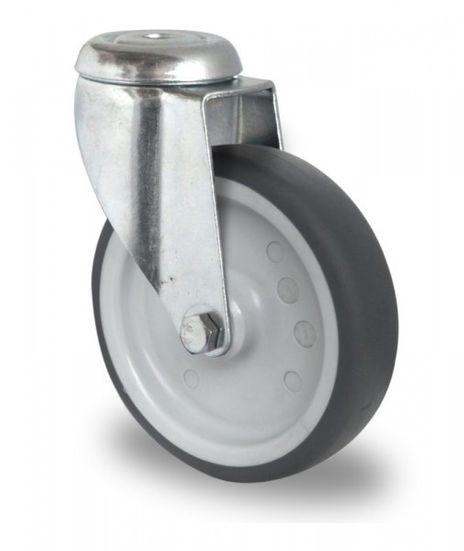 Schwere Apparaterolle, Rückenlochlenkrolle Ø 100mm
