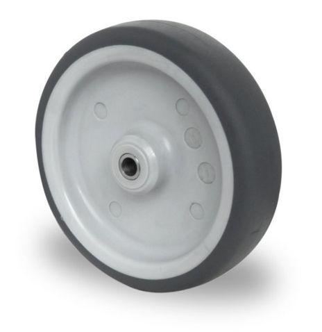 Einbaurad mit Achsmaterial für schwere Apparaterollen Ø 125mm