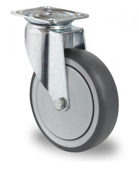 Schwere Apparaterolle, Lenkrolle Ø 125mm