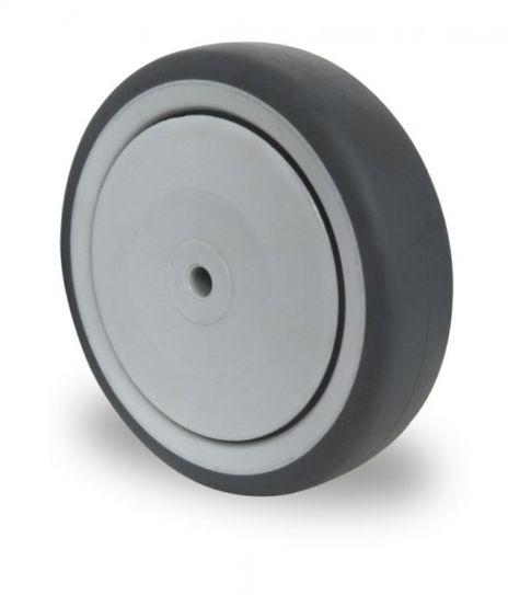 Einbaurad mit Achsmaterial für schwere Apparaterollen Ø 150mm