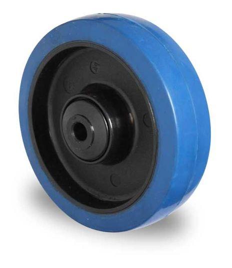 Einbaurad (blau) aus Polyamid und Achsmaterial Ø 80mm – Bild 1
