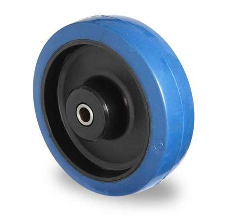 Einbaurad (blau) aus Polyamid und Achsmaterial Ø 80mm – Bild 2