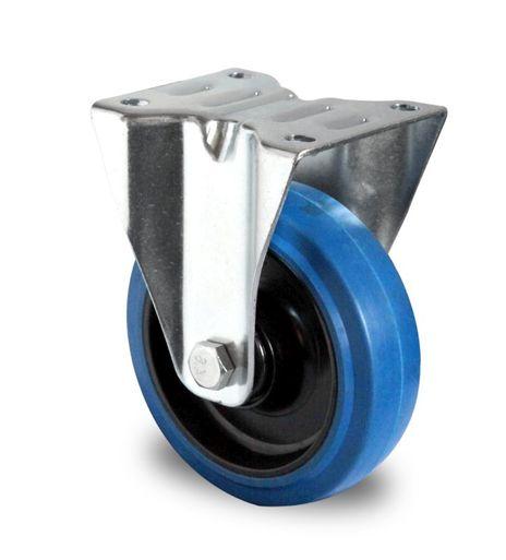 Bockrolle aus Polyamid und Elastik blau Lauffläche Ø 125mm