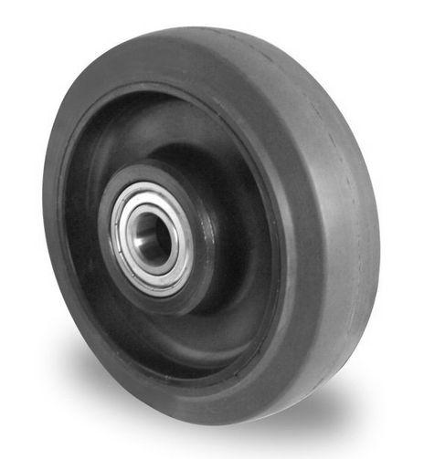 Einbaurad mit Achsmaterial aus Polyamid, Elastik Lauffläche Ø 100mm