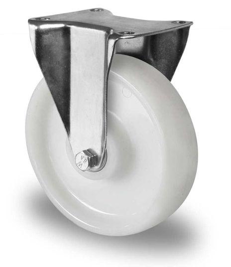 4 Schwerlast Bockrollen aus Polyamid Ø 150mm