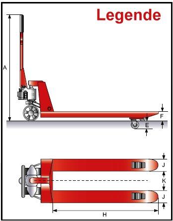 Gabelhubwagen für niedere Sonderpaletten – Bild 2