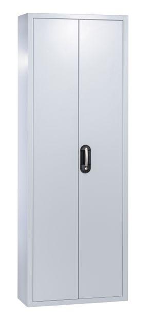 Stahl-Flügeltürenschrank mit 114 Sichtboxen – Bild 2