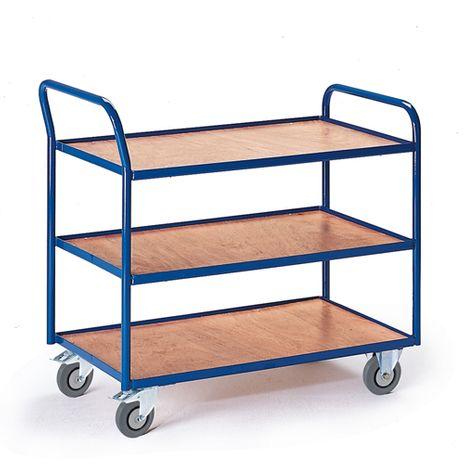 Tischwagen mit 3 Etagen, Ladefläche 990x590 mm
