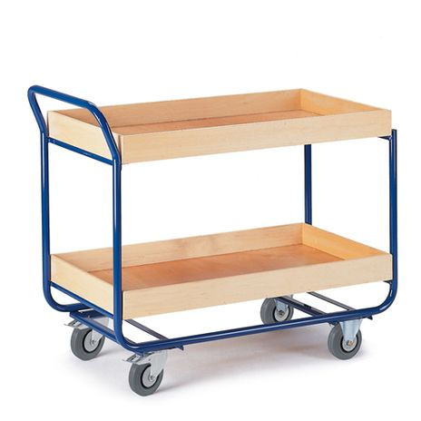 Tischwagen mit 2 Etagen, Ladefläche 775x475mm