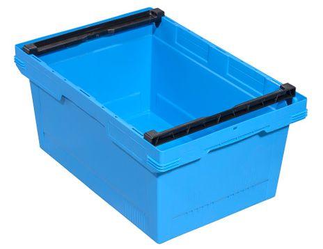 Transportbehälter, blau, B/T/H = 600 x 400 x 273 mm – Bild 1