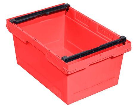 Transportbehälter, rot, B/T/H = 600 x 400 x 273 mm – Bild 1