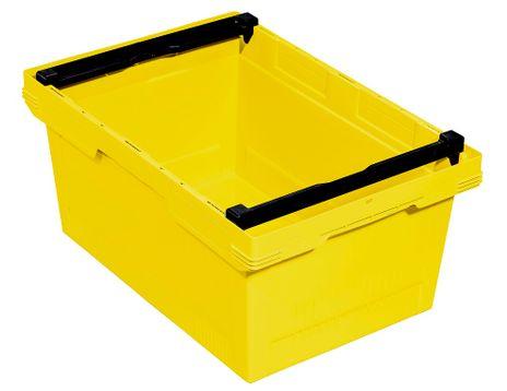 Transportbehälter, gelb, B/T/H = 600 x 400 x 273 mm – Bild 1