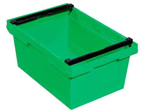 Transportbehälter, grün, B/T/H = 600 x 400 x 273 mm – Bild 1