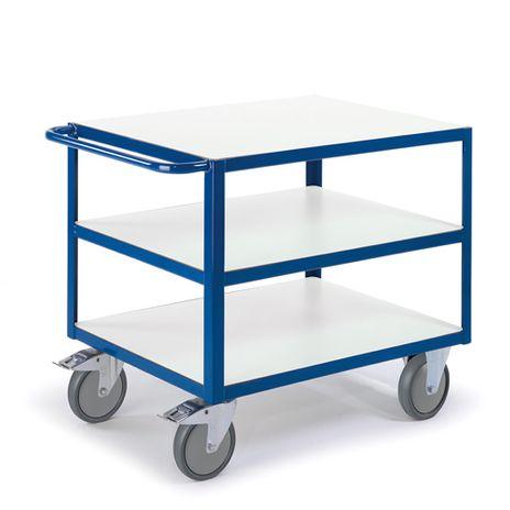 ESD Tischwagen mit 3 Etagen, Ladefläche 1200x800 mm