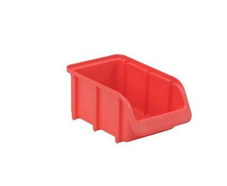 Sichtbox PP, Gr. 3, 1 Stück, rot