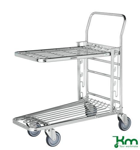 Gitterkorbwagen als Einkaufswagen mit Bremse