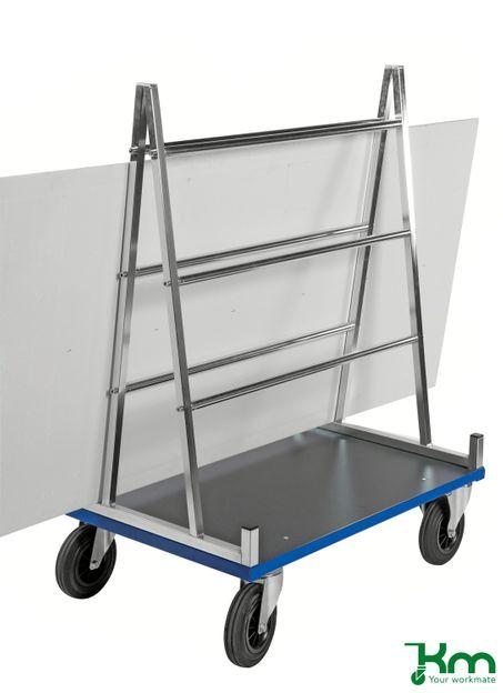 Plattenwagen für 500 kg Platten mit Festeller