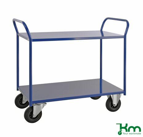 Etagenwagen mit 2 Metallböden und Feststeller