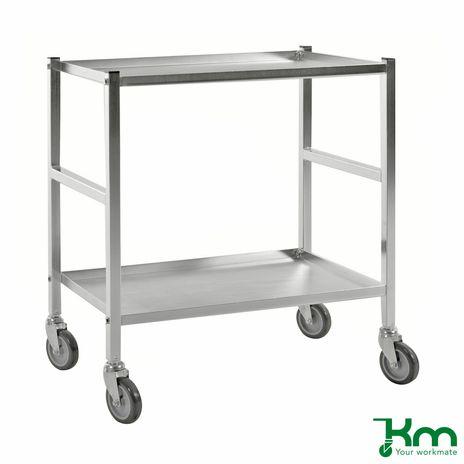 Tischwagen mit 2 Böden und Feststeller