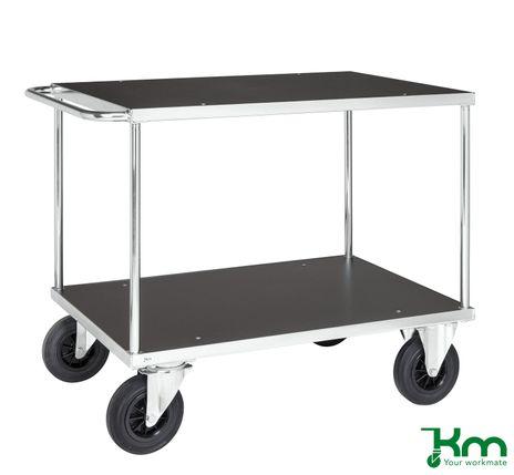 Tischwagen mit 2 Böden und Festeteller