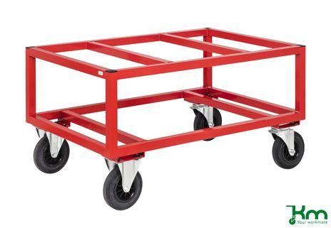 Palettenwagen für große Paletten 800 kg mit Feststeller
