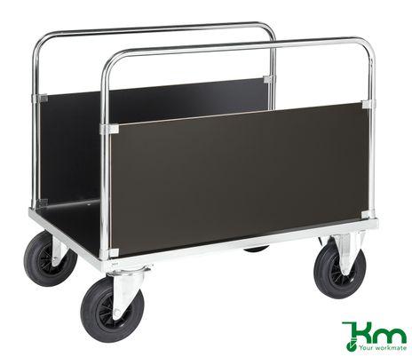 Plattformwagen mit 2 Seitenwänden und Feststeller