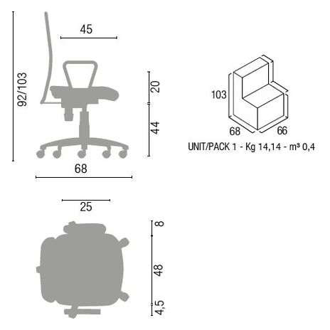 Bürodrehstuhl Wachter-Otavo – Bild 4